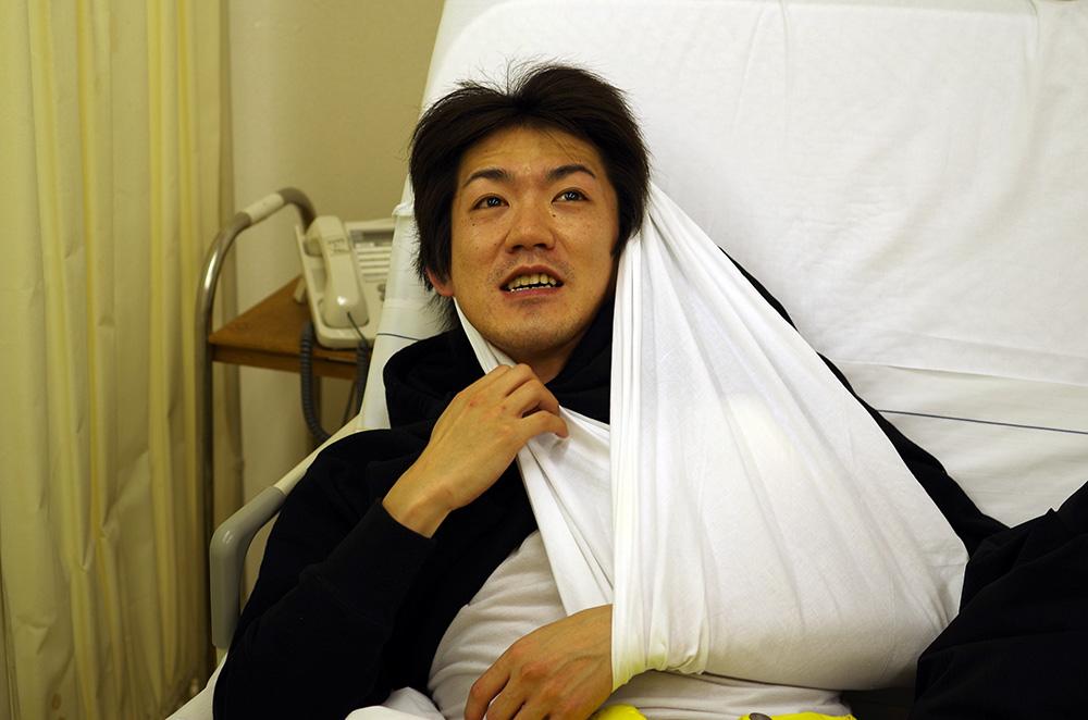 この頃一人でスノボに行って鎖骨骨折した人。妙高まで迎えに行くはめになりました。